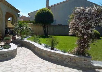 Aménagement d'un jardin dans le Sud de la France