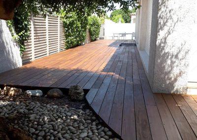 Aménagement d'une terrasse en bois